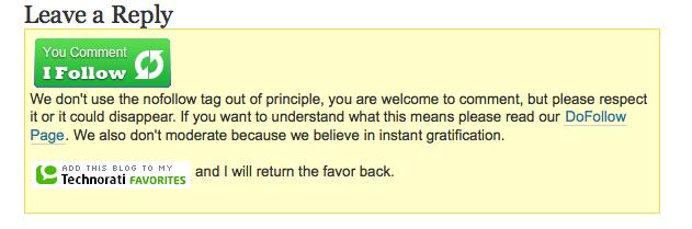 comment block Do Follow Website