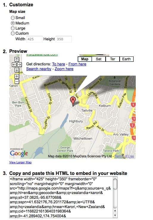 map31 Embedding Google Maps in 2 Easy Steps